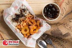 Combo Seafood ricebox & softdrink