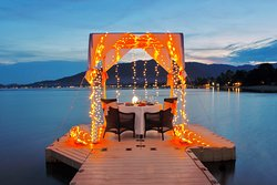 Private Dinner with fairy light