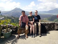 Chilling and enjoy mount Batur view