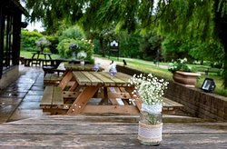 tables under the willows