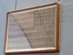 Commodore Perry's flag. This was on display during the surrender ceremony.