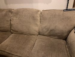 Dirty stained sofa