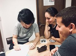 Japanese class with Madoka