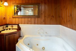 bathroom and spa in cottage