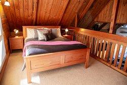 cottage mezzaine level bedroom