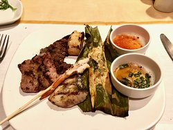 Thai Night -- choose-your-meat grill items.