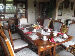 Breakfast table for B&B guests