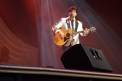 Joe Tinoco singing some more Elvis Presley tunes.