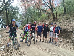 Mountain Biking Trip to Annapurna Circuit via Thorong La Pass 5416m in April 2019 with Swiss-Hong Kong Group. Trip organized by Swiss Family Treks and Expedition. Photo was taken on the way to Chame.