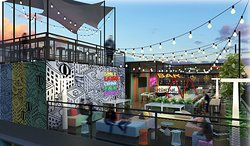 Unwind with a mug of ice cold beer and tropical house beats at Tamu Rooftop Bar.