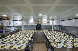 Turnatour meals are prepared fresh by professional chefs in our modern kitchen on the boat