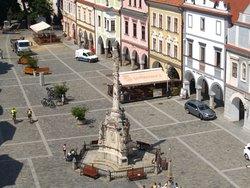 Pohled na náměstí s přiblížením