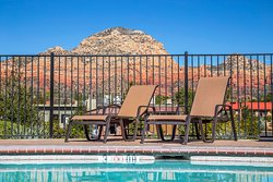 Sparking pool to relax at after exploring beautiful Sedona!