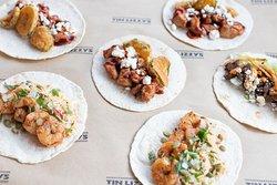Chop Chop Shrimp Taco and Southern Comfort Taco