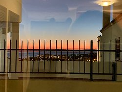 Amazing sunset views from the balcony