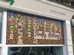 Our shop front with mosaic