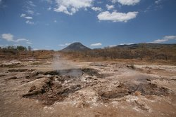 San Jacinto is a volcanic field where you can walk among bubbling mud holes and experience volcanic power first hand.