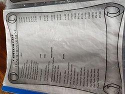 Menu at Capitano Cafe, Lami
