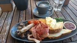 Delicious Big breakfast and excellent long black coffee.
