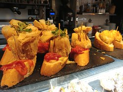 Award winning pintxos at bar/restaurant Vicor, Plaza Nueva 2, Bilbao