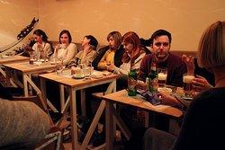 Small talks in cafe Yoko.