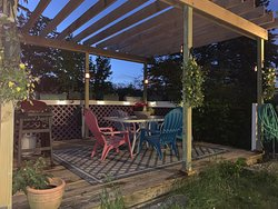 Comfort and fun extends to your private outdoor space at the Denmark Stage Stop House's Bridgton Bungalow Cottage!