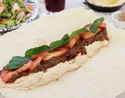 Beef & Hummus Manousheh