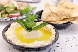 Side plate of Hummus