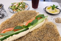 Zaatar & Hummus Manousheh
