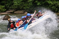 Fun on the Icoee with Friends at Cherokee Rafting