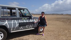 Awesome personalized Jeep with our names!  Felt so welcoming!
