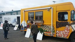 The Waffle Bus Stop! A true Farmers Market success story! Truly a can't miss experience if your in Antigonish!