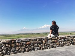 Stunning view of mount ararat.😍