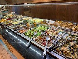 Salads and Seafood section