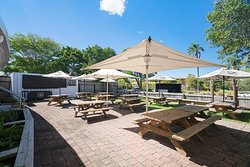 Enjoy your meal and a drink in our outside dining areas