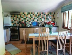 Cabin Dining area and kitchen