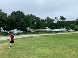 Planes on the property