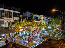 Night market area in old town Hoi An