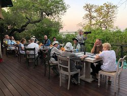 An annual birding group at Flameback