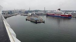 Port of Tallinn from Silja Europa