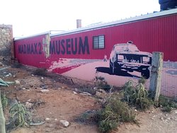 the side of Mad Max Museum