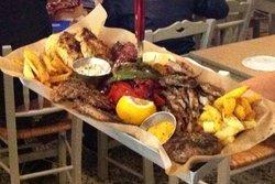 huge meat plate