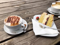 Morning coffee and cake - back for breakfast the next day!