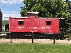 "Pere Marquette caboose A986 (also called a ""Way Car"" as it contained copies of all the Way Ladings records)"