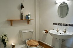 Farthingwood Barn bathroom, shower