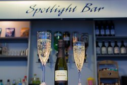 Our Spotlight Bar is fully stocked with a wide range of drinks including specialist gins, prosecco, Brentwood Brewery beer and Fentimans soft drinks.