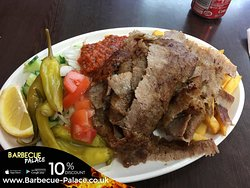 Donner Kebab This Eastern Mediterranean Dish Consists Of Freshly Made Minced Lamb Flavoured With Turkish Herbs & Spices, Cooked Uniquely On A Revolving Skewer