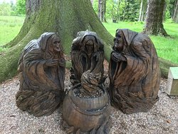 The three witches from Macbeth