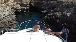 Luidietta lampedusa gita in barca