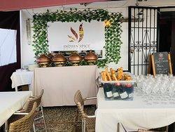 Buffet at Indian spice Benahavis